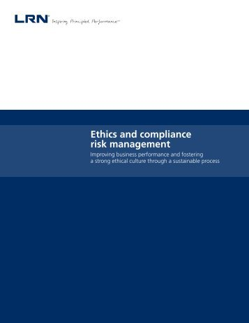 Ethics and compliance risk management - Ethics Resource Center