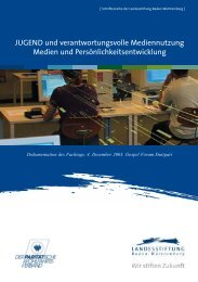 JUGEND und verantwortungsvolle ... - Baden-Württemberg Stiftung