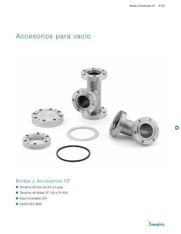 Accesorios para vacío: Bridas y Accesorios CF (MS-03 ... - Swagelok