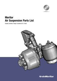 Meritor Air Suspension Parts List