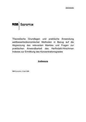 Theoretische Grundlagen und praktische Anwendung - BWB