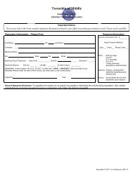 Request for Public Records - Middle Township