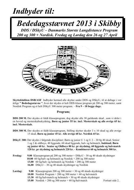 Indbyder til: Bededagsstævnet 2013 i Skibby DDS / DSkyU