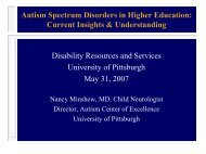 Autism Spectrum Disorders in Higher Education: Current Insights ...