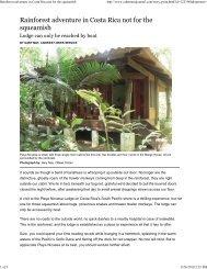 Rainforest adventure in Costa Rica not for the ... - Seasmoke PR