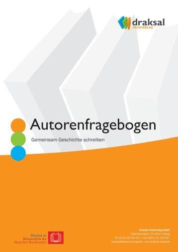 Autorenfragebogen - Draksal Fachverlag