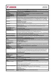 Herunterladen PIXMA MG8150 - Technische Datenblätter ... - Canon