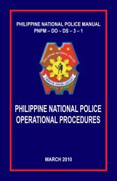 Police Operational Procedure Manual (MARCH 2010) - PNP ...