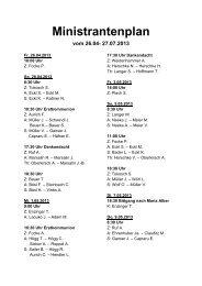 Ministrantenplan vom 26.04- 27.07.2013