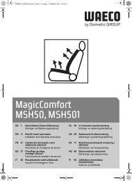 MagicComfort MSH50, MSH501 - Waeco