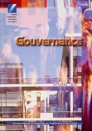 la gouvernance - Centre de documentation de l'urbanisme