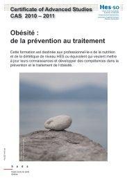 Obésité : de la prévention au traitement - HES-SO Genève