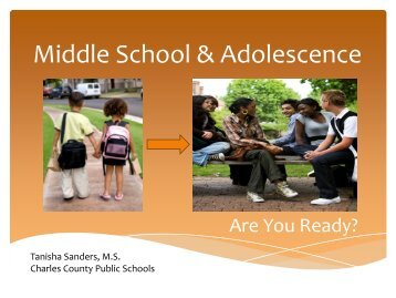 2013 Fifth Grade Transition Presentation - Charles County Public ...