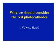 Why we should consider the red photocathodes