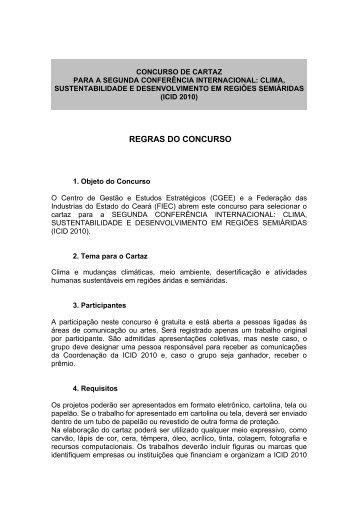 CONCURSO DE CARTAZ - Semiárido