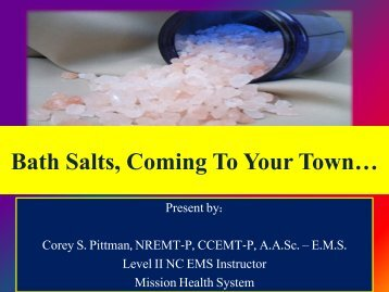 Bath Salts, Coming To Your Town…