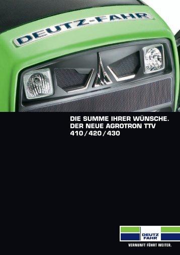 Agrotron 400 TTV - Deutz-Fahr