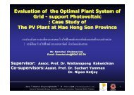 Evaluation of the Optimal Plant System of Grid - support Photovoltaic ...
