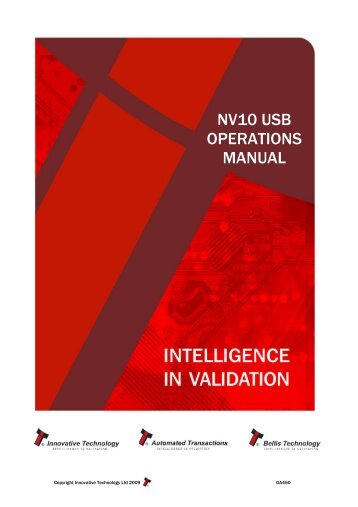 nv10 usb operations manual - Casino Software - Spielautomaten