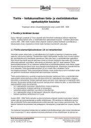 Hanke-esitys vuodelle 2005 - 2006 - TieVie - Oulu