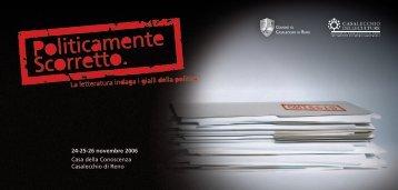 24-25-26 novembre 2006 Casa della Conoscenza Casalecchio di ...