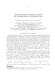 1 SKEW-SYMMETRIC VANISHING LATTICES AND ...