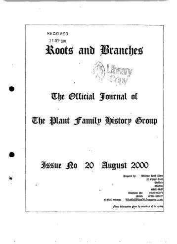 RECEIVED 2 7 SEP 2000 - Plant-fhg.org.uk