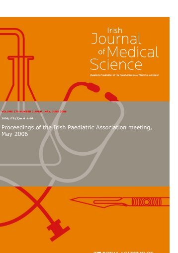 Proceedings of the Irish Paediatric Association meeting, May 2006