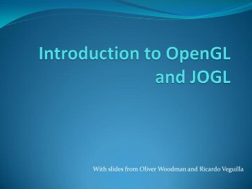 Introduction to OpenGL and JOGL