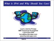 What is IPv6 and Why Should You Care! - Laura Jeanne Knapp