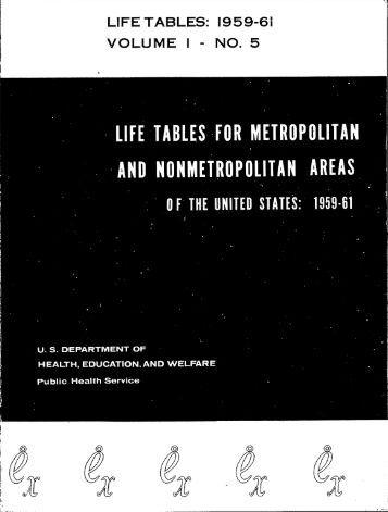 U.S. DECENNIAL LIFE TABLES FOR 1959-61; VOL. 1, NO. 5 ...
