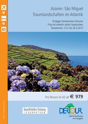 Azoren: São Miguel Traumlandschaften im Atlantik - Leserreisen