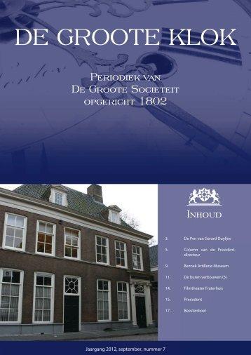 de Groote Klok - september 2012 - de Groote Sociëteit Zwolle