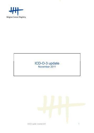 ICD-O-3 update NL