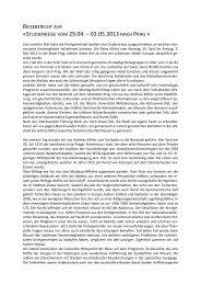 studienreise vom 29.04. – 03.05.2013 - Evangelisch-reformierte ...