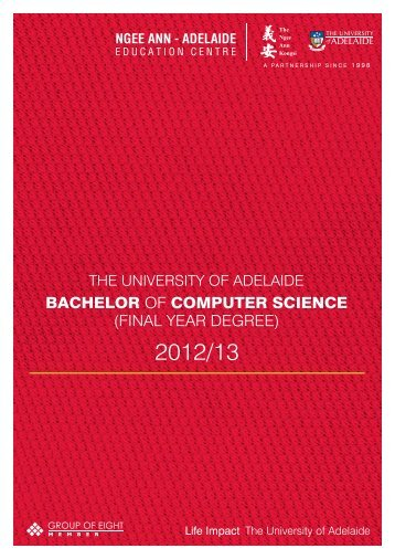 bachelor of computer science - Ngee Ann-Adelaide Education ...