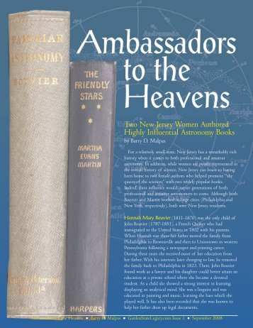 Ambassadors to the Heavens - [Malpas-1].qxd - Garden State Legacy
