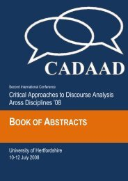 BOOK OF ABSTRACTS - CADAAD