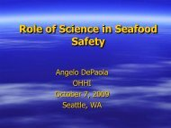 Dr. Angelo Depaola, Food and Drug Administration (FDA)