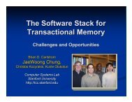 The Software Stack for Transactional Memory - Computer Systems ...