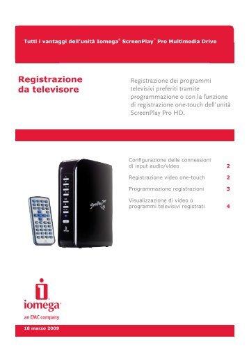 Registrazione da televisore