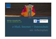 e-Mail, Internet + Datenschutz am Arbeitsplatz - Dr. Axel Czarnetzki ...