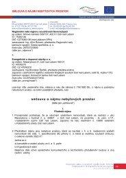smlouvu o nájmu nebytových prostor - Regionální rada regionu ...
