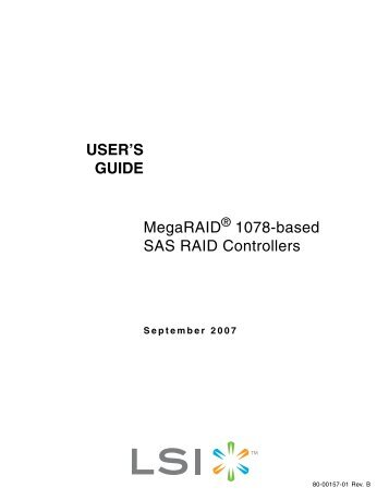 MegaRAID® 1078-based SAS RAID Controllers User's Guide