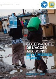 Rapport 2012 de l'observatroire de l'acces aux ...