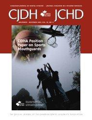November/December 2005, Volume 39, Number 6 - CDHA