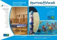 Sportsnuffelweek Skarsterlân - kies je sport