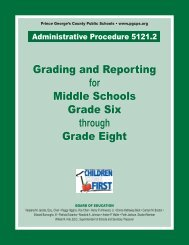 Grading - Prince George's County Public School System