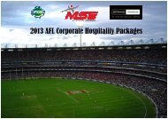 2013 AFL Corporate Hospitality Brochure 1 - MSE Events