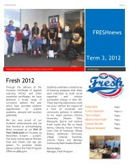 FRESHnew Fresh 2012 - Western Bulldogs Football Club